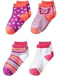 Stride Rite女の子4 - Pack Quarter Socks
