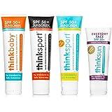 Thinksport/Thinkbaby Safe Sunscreen, 3 oz Bundle of 4