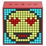 Divoom [ TIMEBOX-EVO ] ピクセルアートスピーカー Bluetoothスピーカー [ レッド ]