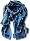 (タバラット)TAVARAT 日本製 メンズストール 【 綿100% ヘリンボーン 全3色 】 (ネイビーブルー) TAV-014_nv