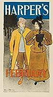Harper 's–2月ヴィンテージポスター(アーティスト: Penfield ) USA C。1896 16 x 24 Giclee Print LANT-63199-16x24