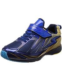 [スーパースター] 運動靴 通学履き バネ 男の子 軽量 マジック ゆったり SS J822