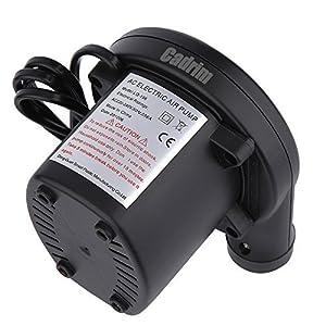 【Cadrim】エアコンプレッサー 電動エアポンプ 車用空気入れ 空気ポンプ 空気入れ ・空気抜き ノズル付き 3種類対応 低音 (車用)