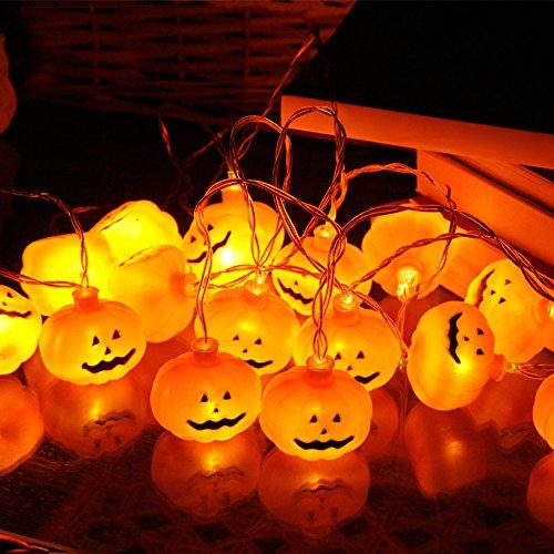 ホッミコッゼ(Homeycozy) ハロウィン クリスマス カボチャライト LEDライト イルミネーションライト カボチャ 飾り 3m 20球 電池式 パンプキンライト ジャックオーランタン 室内 屋外 生活防水 イエロー