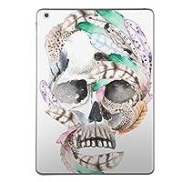 iPad mini mini2 mini3 共通 スキンシール retina ディスプレイ apple アップル アイパッド ミニ A1432 A1454 A1455 A1489 A1490 A1491 A1599 A1600 タブレット tablet シール ステッカー ケース 保護シール 背面 人気 単品 おしゃれ 骸骨 羽根 フェザー 014534