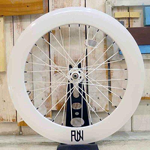 Riderz Cafe(ライダーズカフェ) FUN 700C 80mm ディープリム フロント ホワイト ASP ホワイト
