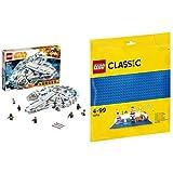 レゴ(LEGO) スター・ウォーズ ミレニアム・ファルコン 75212 & クラシック 基礎板(ブルー) 10714