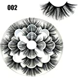 SKONHED 7 Pairs Woman' Fashion Wispy Fluffy Hair Dramatic Long Can Be Trimmed 8D Mink Hair False Eyelashes Eye Lash Extension 25mm Lash(002)