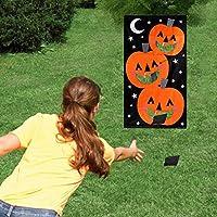 KESOTO カボチャバッグ豆袋 140 x 76cm ハロウィンパーティー 掛けトスゲーム 面白い