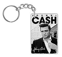 Johnny Cash # 5アルミ長方形プレートキーチェーン( 1-sided ) Includesキーリング。