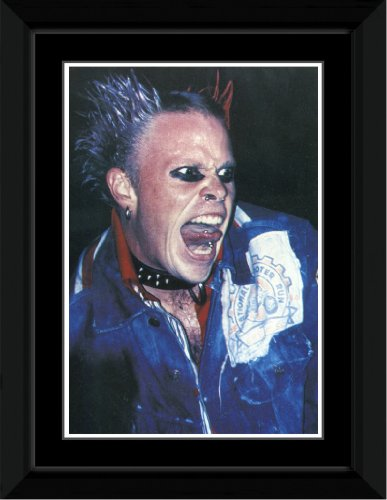 Prodigy - Keith Flint - Dog Collar Framed Mini Poster - 14.4x9.2cm