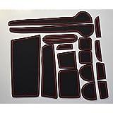 KINMEI(キンメイ) ホンダN-ONE 赤 専用設計 インテリア ドアポケットマット ドリンクホルダー 滑り止め ノンスリップ 収納スペース保護 ゴムマット エヌワン HONDAk-9