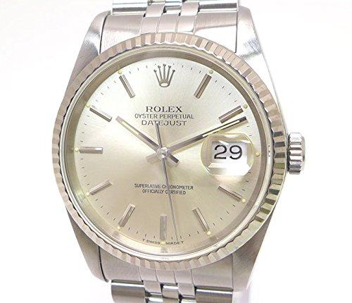 ロレックス デイトジャスト Ref.16234 SS/WG L番 自動巻 Cal.3135 メンズ腕時計 シルバー文字盤 [中古]