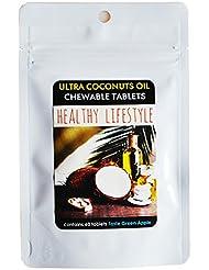 ヴァージンココナッツオイル 濃縮 サプリメント 水なし 舐めるタイプ 青りんご味 200種 酵素 ギムネマ by ウルトラココナッツオイル