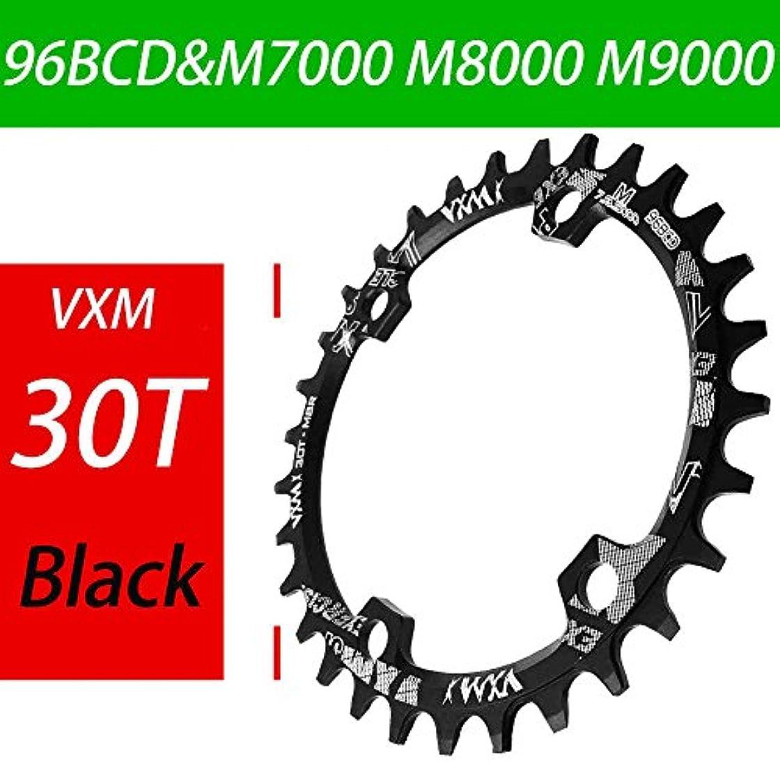 敬意を表してコインランドリー膨らませるPropenary - Bicycle 96BCD Crank 30T Chainwheel Aluminum Alloy Round Chain ring Chainwheel Road Bicycle Chain ring for M7000 M8000 M9000 [ Black ]