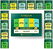 VAHDAM, Green Tea Sampler, 5 TEAS - Tea Variety Pack | Assorted Green Tea Bags | Organic Green Tea, Mint, Earl