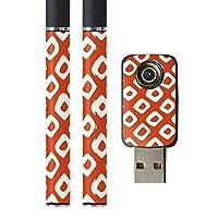 igsticker プルームテック Ploom TECH 専用スキンシール バッテリー スティック USB充電器 カバー ケース 保護 フィルム ステッカー スマコレ 004032 チェック・ボーダー 和風 和柄 赤