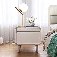 "LJJL ナイトテーブル、寝室の居間に適した2つの引出しが付いている純木のキャビネットの枕元の狭いキャビネット20""×15.4""×20"""