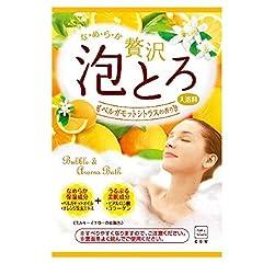 牛乳石鹸 お湯物語 贅沢泡とろ 入浴料 ベルガモットシトラスの香り 30g 1個