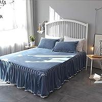 ベッドスカート,ベルベット 簡単なケア ほこり しわ ベッド カバー シート エキストラ ベッド- 150x200cm(59x79inch)