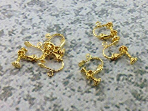 イヤリングパーツ 20個(10ペア) ゴールド