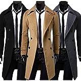 (アルファーフープ) α-HOOP メンズファッション シンプル シック ロング コート 上着 無地 長袖 アウター 大きいサイズ も M ~ XL 大人 男 性 用 EO10