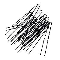 IPOTCH ブラック 髪ピン ヘアピン DIY髪型 U字型 合金製 20個入り