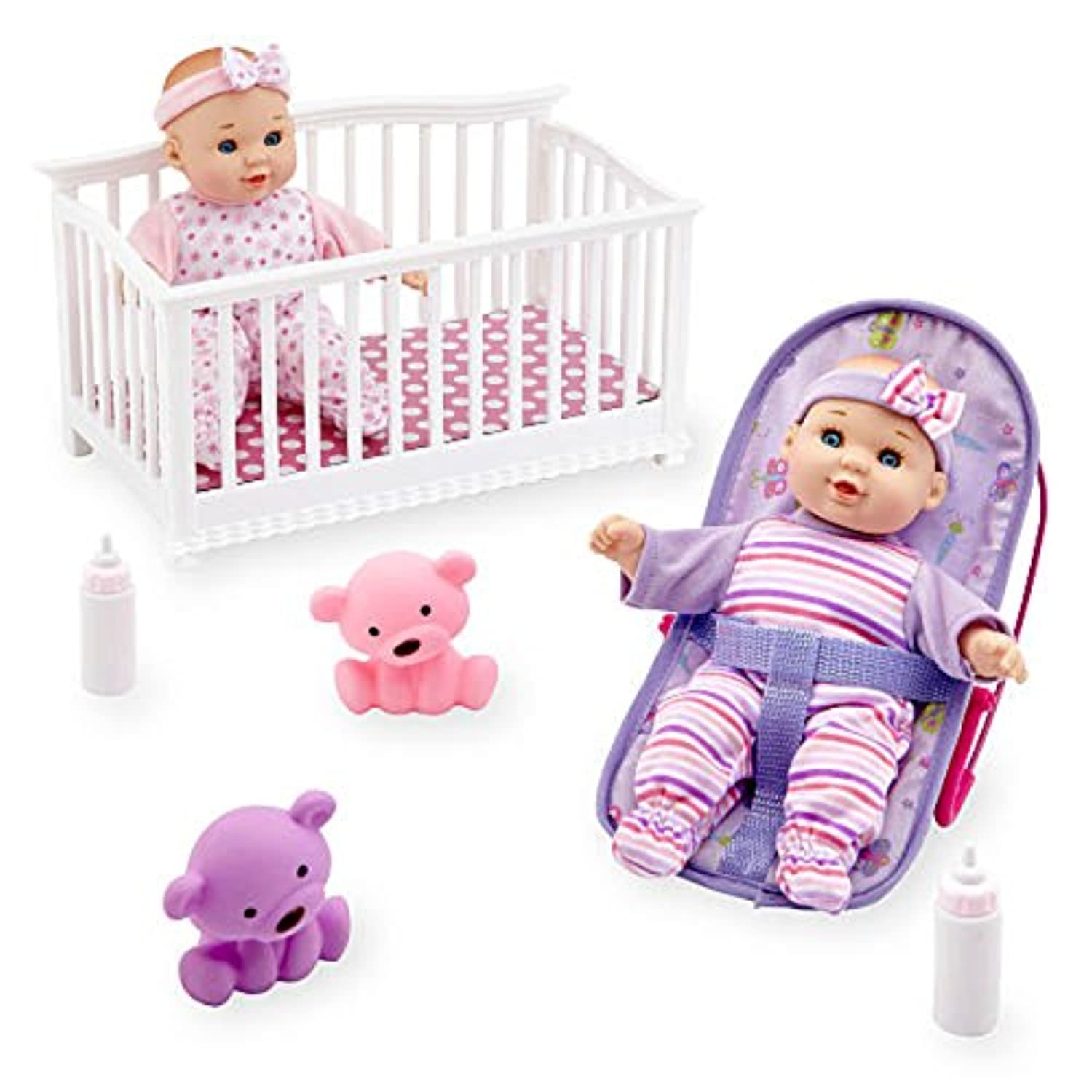 You & Me Mini Twins 8 inch Deluxe Baby Doll Set, Gift, Girl, Toys by You&Me