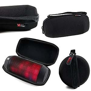 便利で丈夫なジッパー付サテライトナビキャリーケース JBL Pulse ワイヤレスポータブルスピーカー Bluetooth対応 ブラック PULSEBLKJN JBLPULSEBLKJN用 黒色
