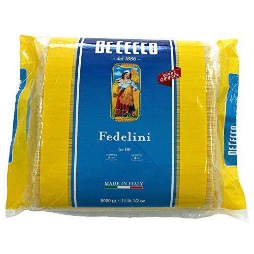ディチェコ フェデリーニ No.10 ( 1.4mm ) 5kg 業務用 パスタ DE CECCO スパゲッティ [正規輸入品]