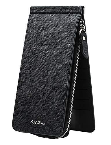 (スーパーモダン)Super Modern長財布 三つ折 男女兼用 Black 20x10x2cm
