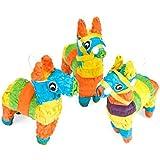 Mini Hollow Donkey Shaped Pinatas ( 3パック)パーティー装飾。