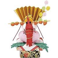 asca お正月飾り ちりめん鏡餅飾り 7×5×4cm A-79036-000