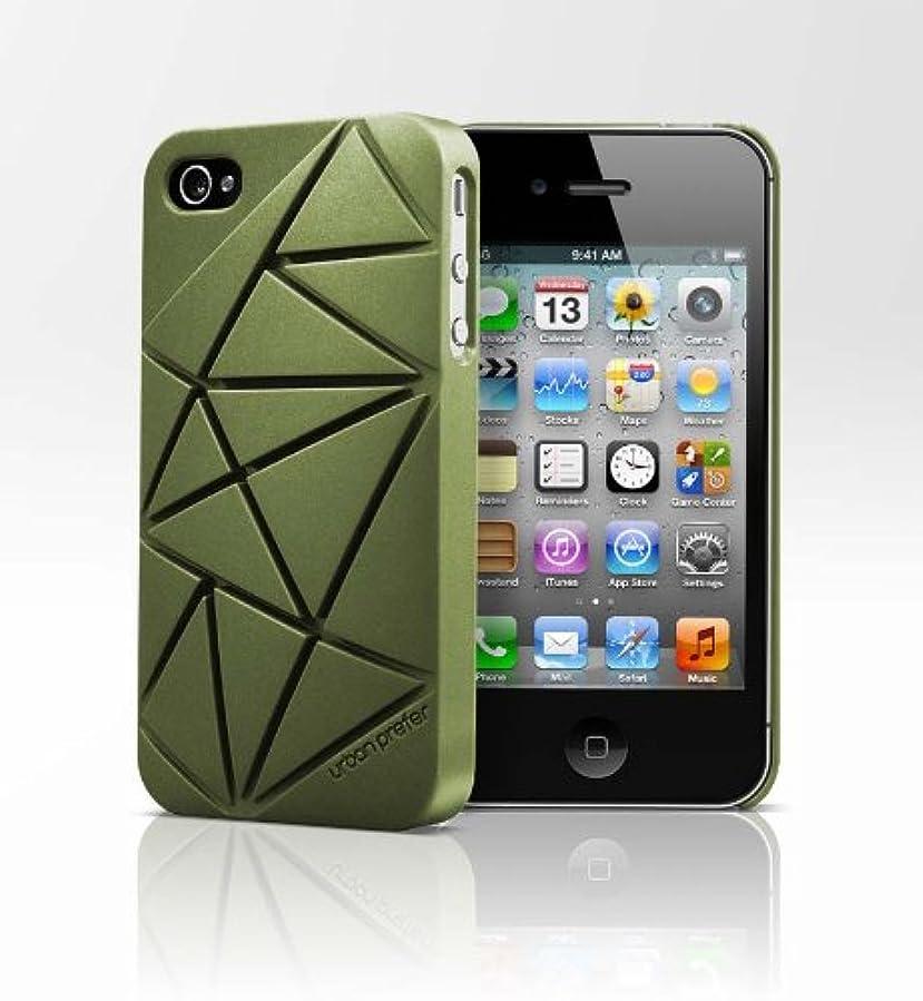 打ち上げる選択する支配するEtui urban prefer Coin4 iPhone4/4S用ハードケース 【コイン1個がスタンドになる とってもクールで新感覚】 アーミーグリーン Coin4-AG
