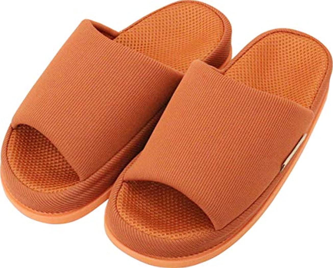 リズム親指単に足で癒す リフレクソロジースリッパ リフレ 中心 ダークオレンジ L