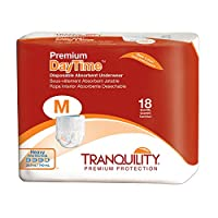 Tranquility Premium DayTime Pull-On Diapers Size Medium Case/72 (4 bags of 18) by Tranquility