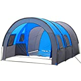(アスボーグ)ASVOGUE おしゃれ 丈夫アウトドア 便利 5-8人用 防水デザイン キャンプ テント(キャンプ/クライミングなどの場合に適用) (スカイブルー, ワンサイズ)