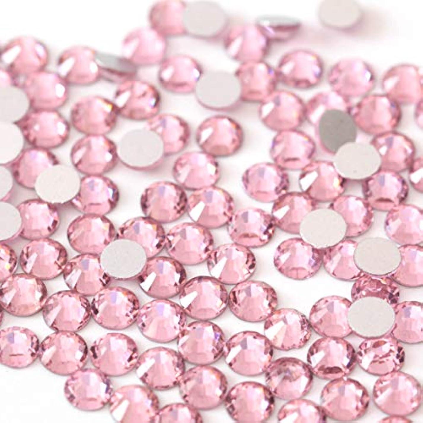 違う供給宝石【ラインストーン77】高品質ガラス製ラインストーン ライトローズ(3.0mm (SS12) 約200粒)