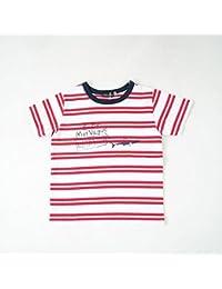 べべ(BeBe) 天竺ボーダーシャークプリントTシャツ