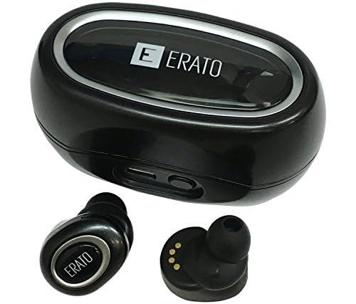ERATO(エラート) MUSE5 ワイヤレス イヤホン Bluetooth 両耳 iPhone アイフォン 防水 マイク スポーツ ブルートゥース イヤホン 高音質 AAC apt-X SBCコーデック採用 完全ワイヤレス リモコン ハンズフリー通話 3Dサラウンド機能搭載 【国内正規品】 メーカー1年保証 (Black)