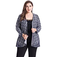 Chicwe Women's Plus Size Floral Print Casual Jacket Cashmere Touch 1X-4X