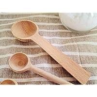 K'sキッチン 天然木 木製メジャースプーン 大さじ 15cc【計量スプーン スープスプーン さじ 調味料スプーン キャニスター 茶さじ かわいい】