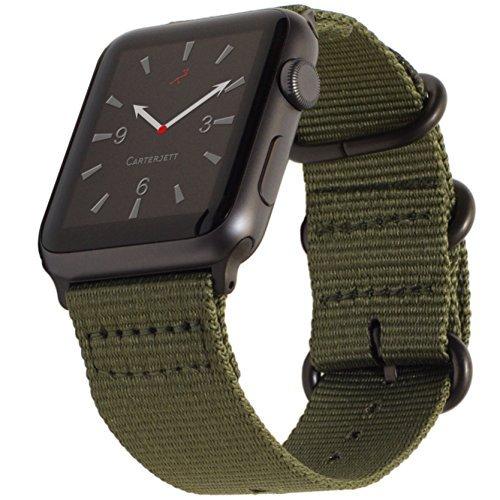 (ケータージェット) Carterjett Apple Watch用ナイロンバンド NATOベルト 38mm+42mm S/M/L/XL/XXL 38mm S/M/L (5