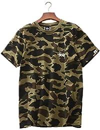 ステューシー Tシャツ 半袖 メンズ レディース クルーネック コットン トップス STUSSY 男女兼用