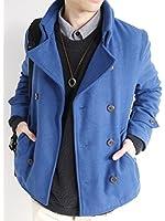 (モノマート) MONO-MART ウール メルトン Pコート ピーコート ナポレオン コート 起毛 アウター 品質 暖かい デザイン メンズ