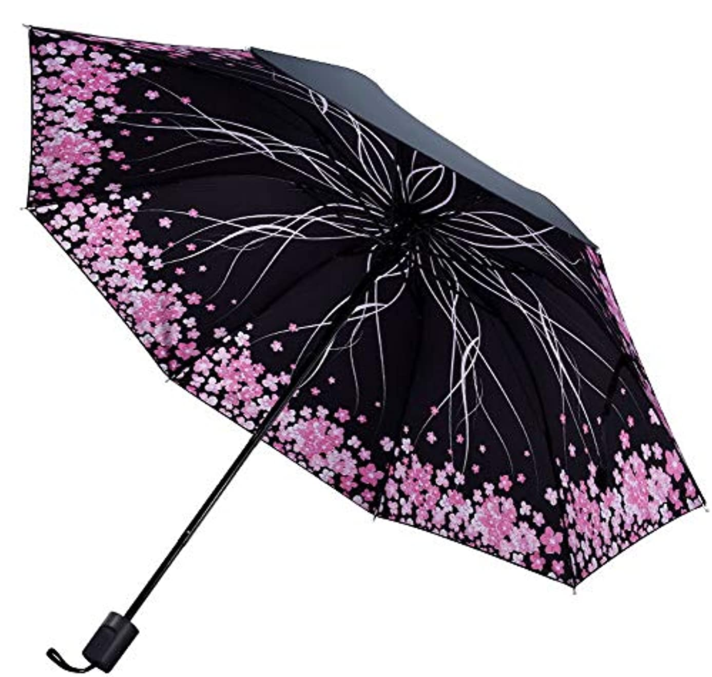 推定気づかないトロイの木馬ポータブル折り畳み傘サンプロテクション傘、桜C
