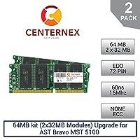 64MBキット( 2x ) Ramモジュール32mbメモリfor AST Bravo MST 5100( 60ns )デスクトップメモリアップグレードby US Seller
