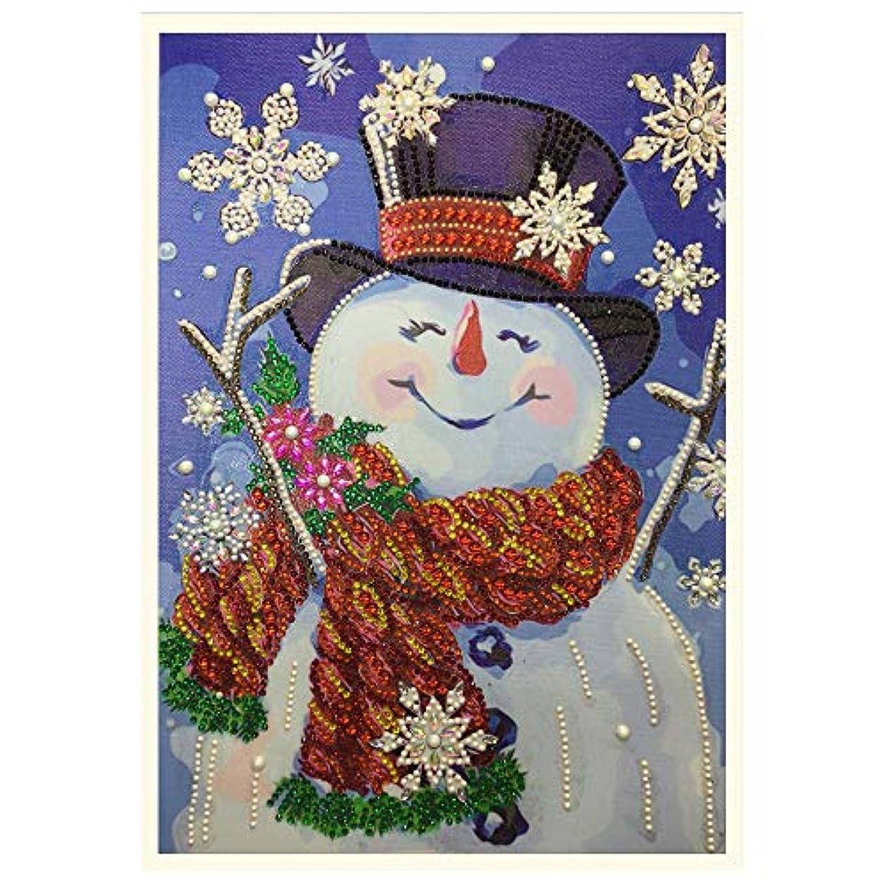 素朴なトムオードリース主要なDIY 手作りダイヤモンド絵画セット 、5Dダイヤモンドペインティング雪だるまインテリア プレゼント ホーム レストラン 壁掛け 装飾30*40CM (マルチカラー)
