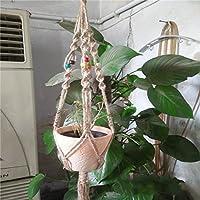 Homeland 麻ロープ ナイロン ロープ 植物ホルダー ハンガー スタンド 吊りスタンド