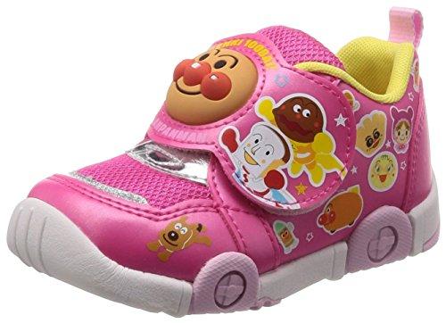 = PARENT = 運動靴 マジック ゆったり 軽量 抗菌防臭 キッズ APM C147 ピンク 14 cm 2E